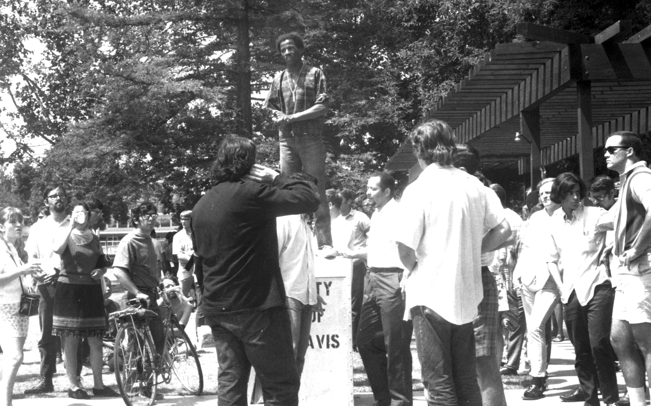Mel Posey, one of the leaders of the Black Students' Union at UC Davis, headed a number of protest efforts on campus in 1969.