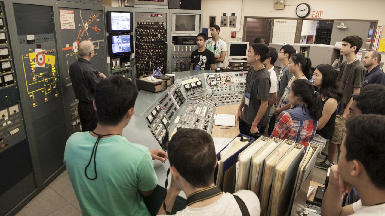 Students in the Nuclear Analytical Techniques Summer School use the Crocker Nuclear Laboratory.