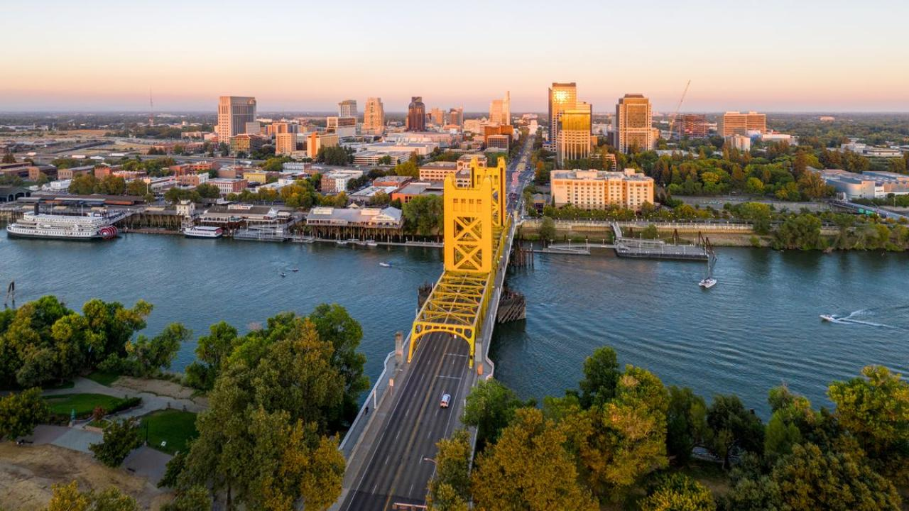 Downtown Sacramento seen from above