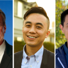 Side by side portrait photos of three Aggies elected in 2020 to public office in California