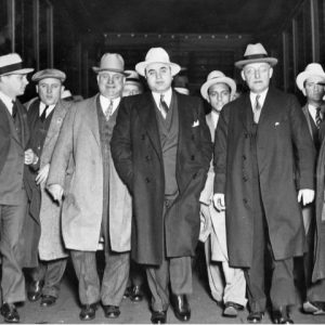 historic photo of Al Capone with associates