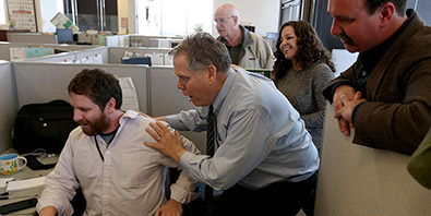 East Bay Times reporters reacting to news of their Pulitzer Prize