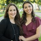 Mindy Romero (B.A., political science and sociology, '01; Ph.D. '14) and Isabella Romero (B.A., communications, '17)