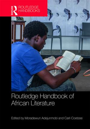 Cover of Handbook of African Literature by UC Davis professor of African American and African studies