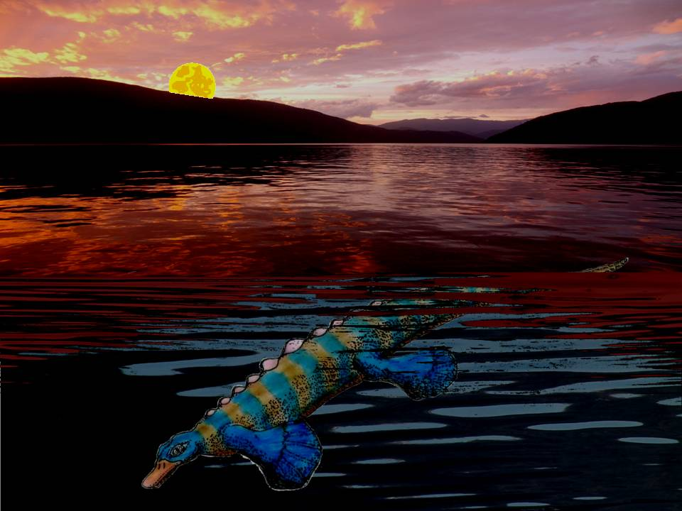 Artist's conception of Triassic fossil