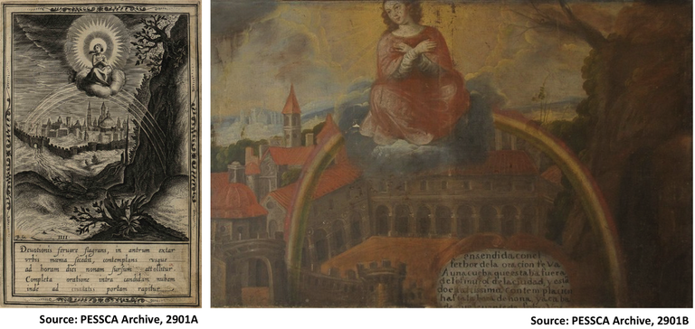 two art works of St. Catherine of Sienna