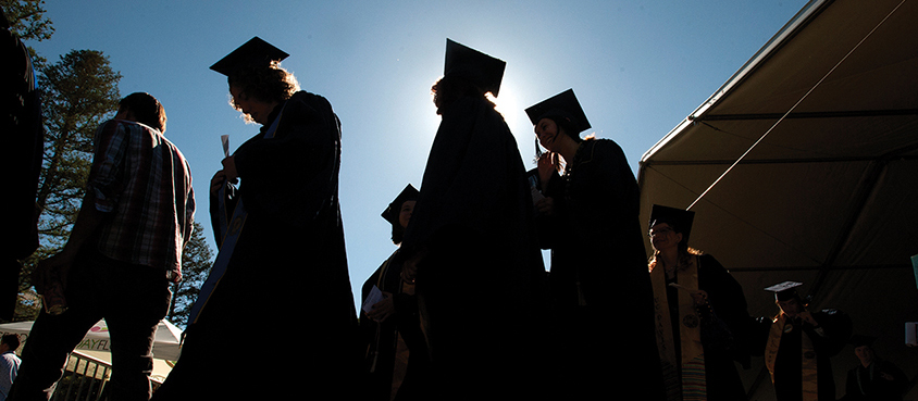graduates in shadow
