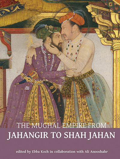 Book cover showing a gilded painting of two men in traditional clothing embracing each other