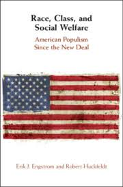 Book cover with title and American flag
