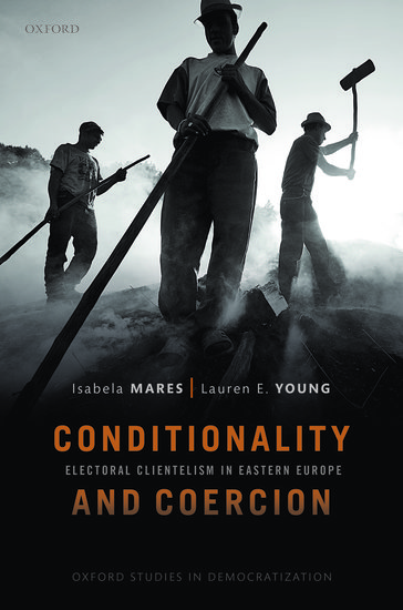 Book cover with photo of three male laborers