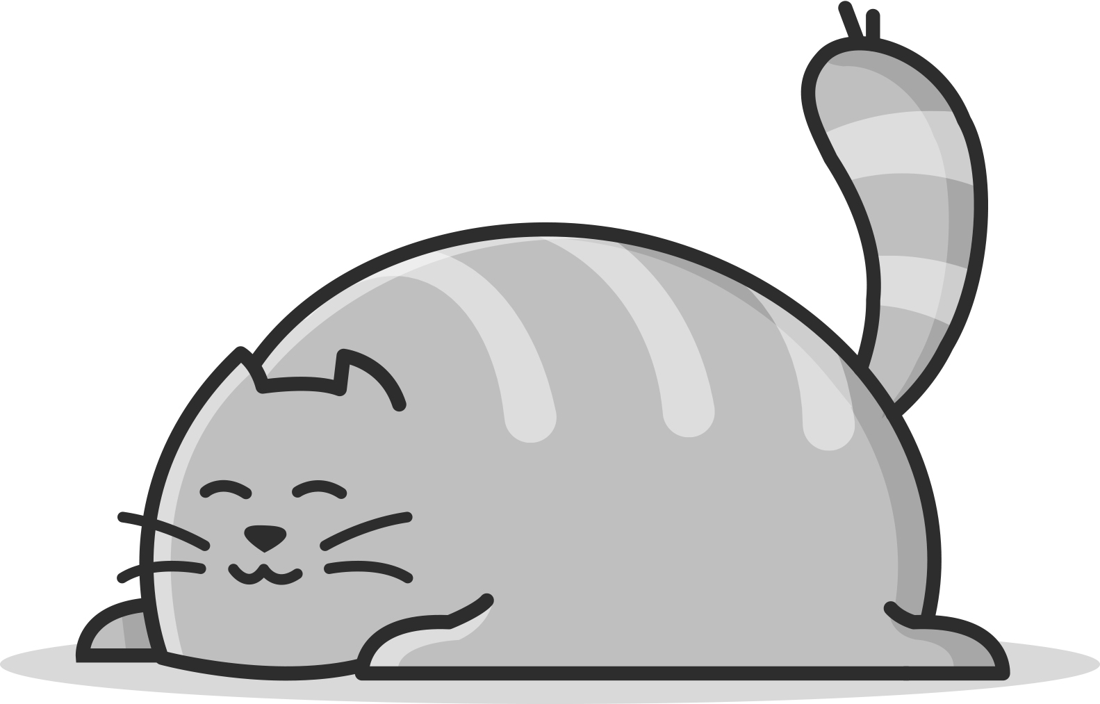 illustration of a chubby cat