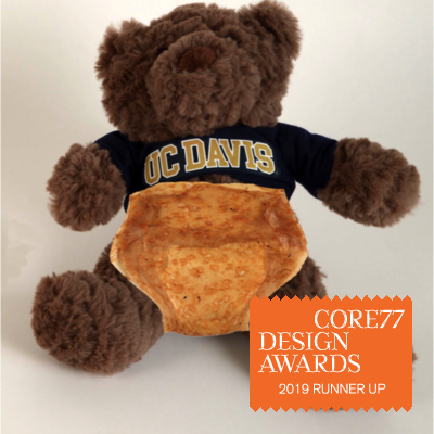 Picture of diaper on UC Davis bear