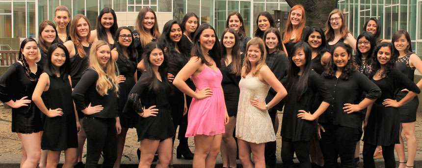 The Her Campus chapter at UC Davis has 35 writers who cover issues relating to college women. (courtesy Mariana Huben)