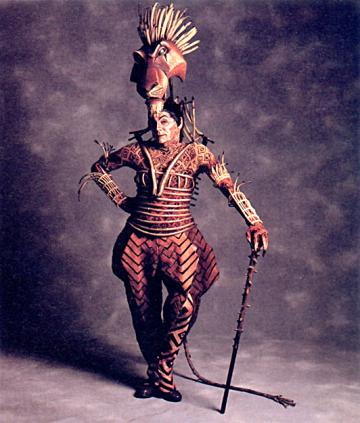 "Theatre major John Vickery '75 was first to play the role of Scar on Broadway's ""The Lion King."" (LionKingWikia.com courtesy photo)"