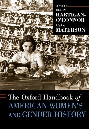 book cover: historic photo of woman sewing in a doll factory