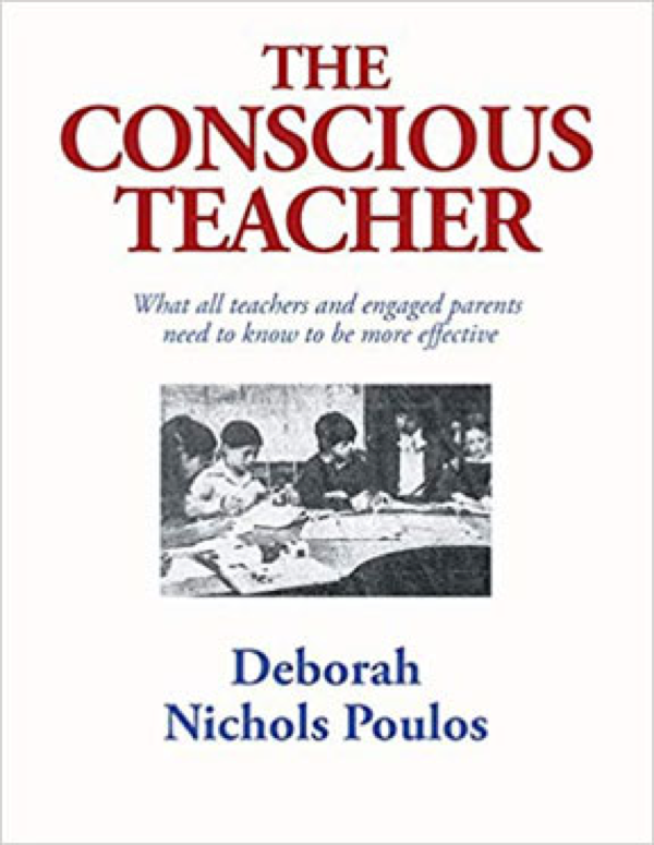 Book cover with young students around a classroom table