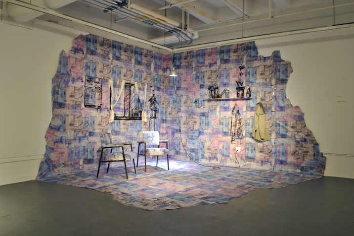 Art installation by Wendy Liu at Basement Gallery