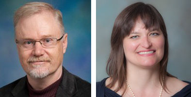 Side by side portrait photos of UC Davis psychology professors Steve Luck and Victoria Cross