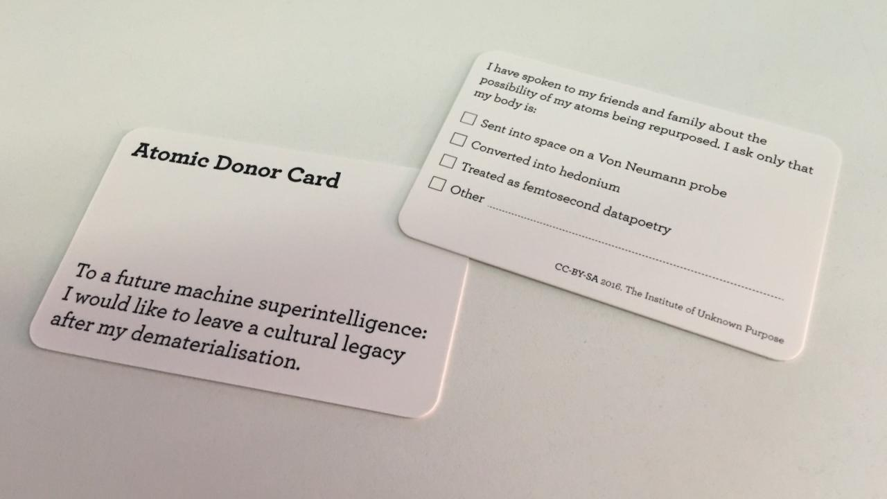 Atomic donor cards