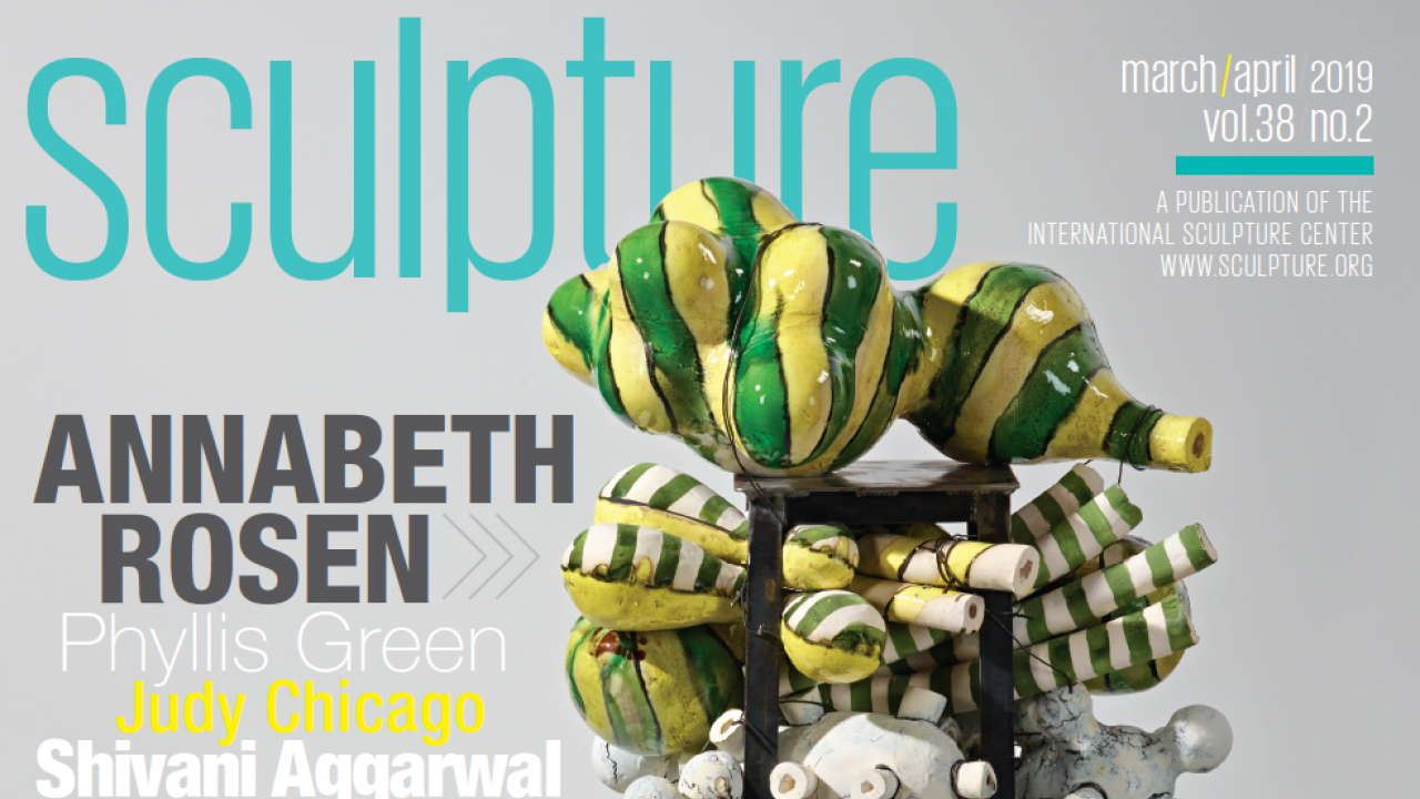 Cover of sculpture magazine with art professor Annabeth Rosen's sculpture