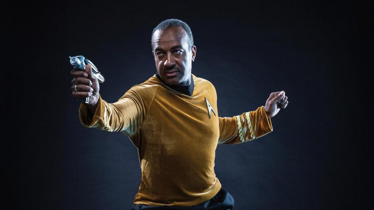 Gary May, UC Davis Chancellor in Star Trek costume