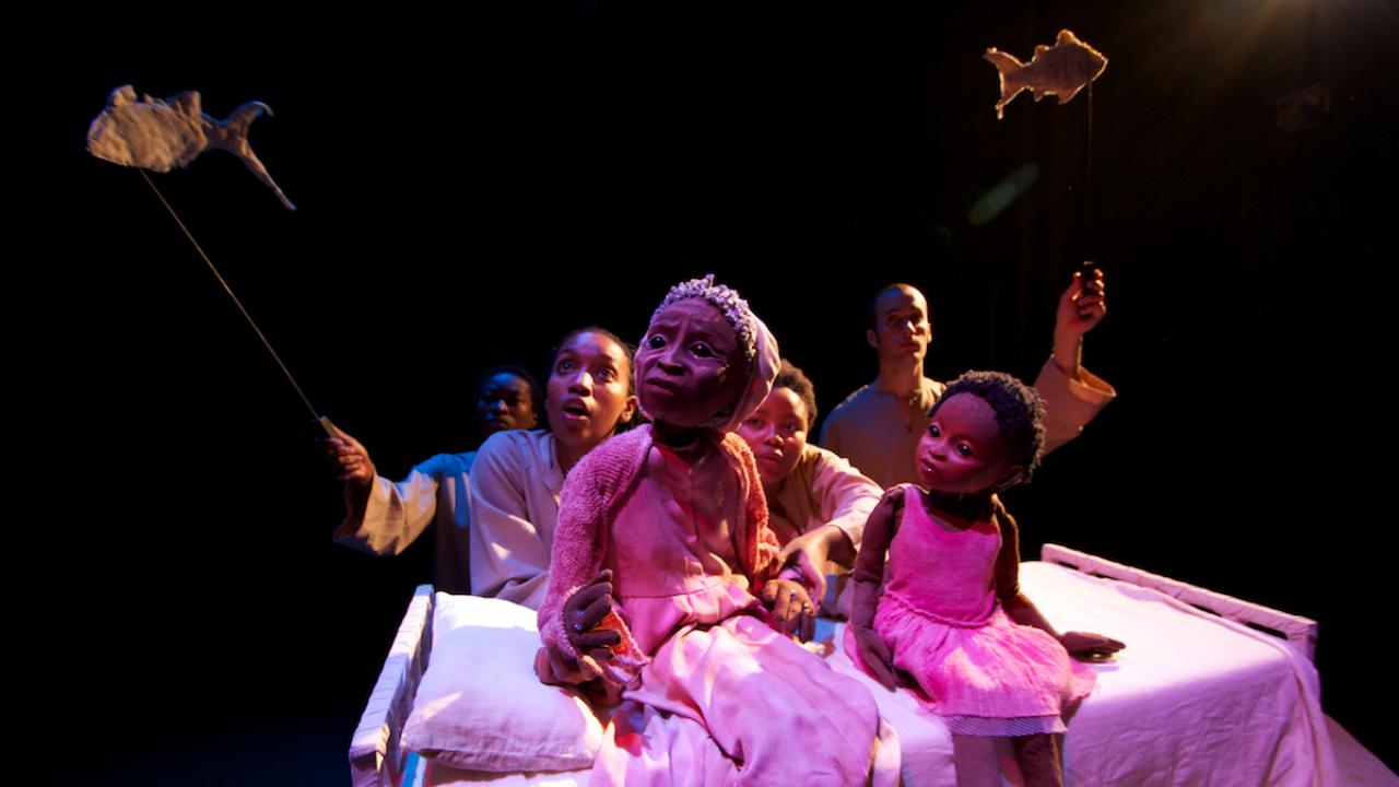 "Janni Younge's puppetry in ""Ouroboros"""