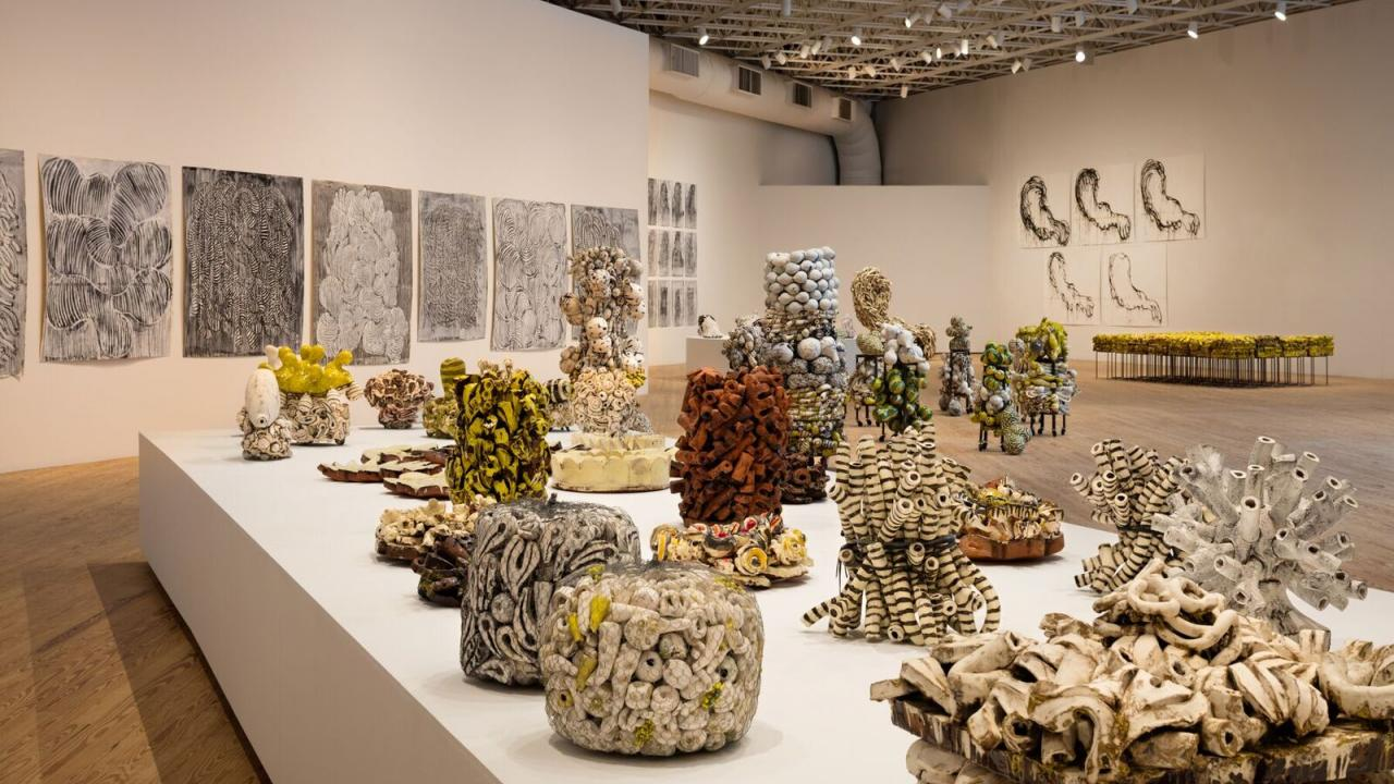 UC Davis art professor Annabeth Rosen's at at the Contemporary Art Museum in Houston