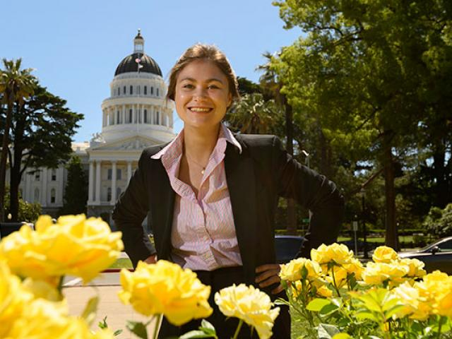 Students participate in internships at the state capitol in Sacramento