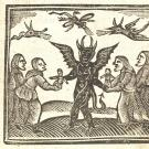 witches woodcut print