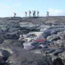 UC Davis geology students in Hawaii