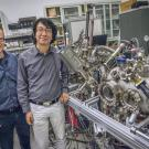 UC Davis project scientist Gong Chen (right) and coauthor Andres Schmid of Lawrence Berkeley Lab
