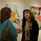 Annie Ross, artist is showing her paintings at Gorman Museum at UC Davis