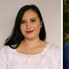 Side by side portrait photos of UC Davis alumni and ACLS Emerging Fellows Maria G. Gutierrez and Loren Michael Mortimer
