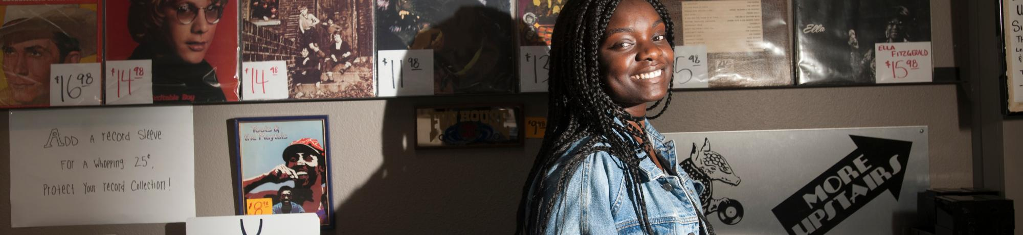 Fulbright award winner Amanda Eke, a senior with BA in gender, sexuality and women's studies