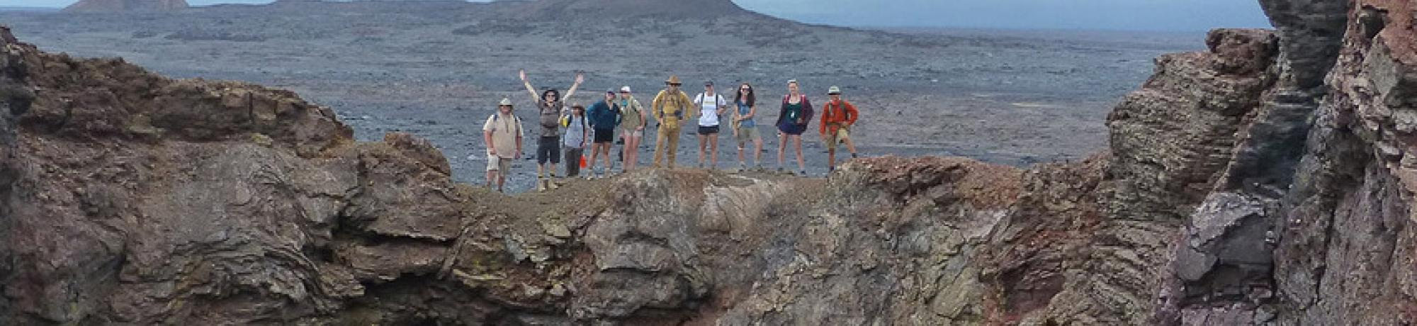 Geology Class on Volcano in Hawaii