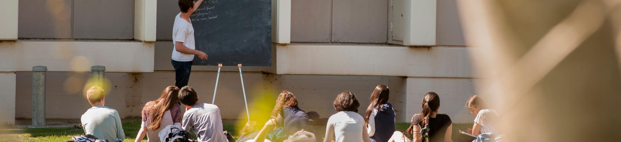 Photo: Class meeting outdoors