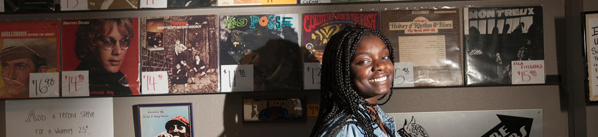 Fulbright award winner Amanda Eke, a senior with B.A. in gender, sexuality and women's studies.