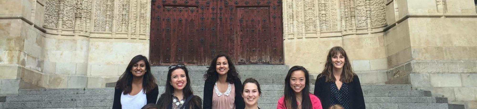 Students taking part  in medieval Spain study abroad course.